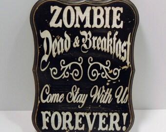 Halloween Sign, Halloween Decoration, Halloween Decor, Halloween Zombie Sign, Zombie Sign, Halloween Art, Vinyl Decal Sign, Dead Sign