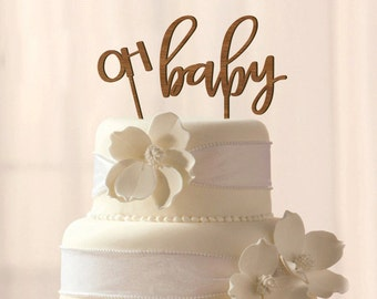 Wood Oh Baby cake topper