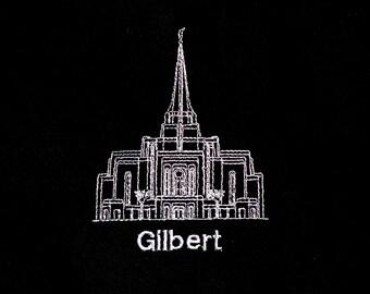 Embroidered Gilbert Arizona Temple