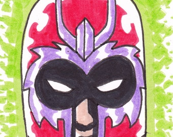 "Magneto X-Men ACEO trading card 2 1/2"" x 3 1/2"""