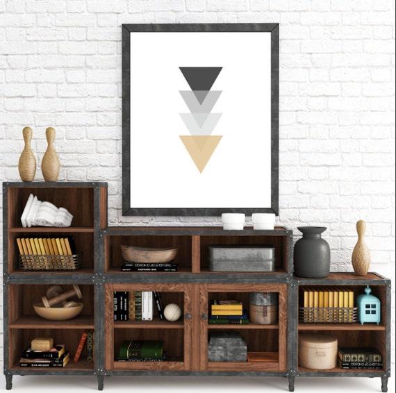 Minimalist Wall Art, Scandinavian, Triangle Print, Geometric Print, Modern Art Print, Home Decor, Abstract Wall Art Print, Triangles Art