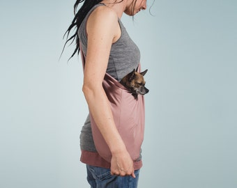 Dog sling XSMALL tricot old pink