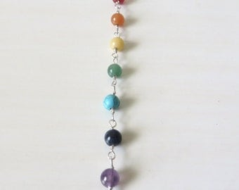 Yoga Chakra Bead Necklace Your Choice of Yoga Charm Om Lotus Hamsa Yoga Pose You Choose Number of Beads and Chakra Bead Color(s)