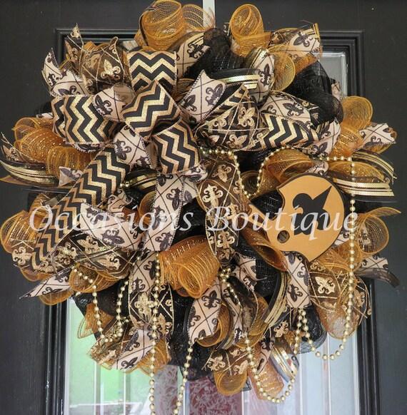 New Orleans Saints Wreath Football Wreaths Double Door