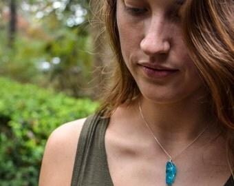 SALE- 925 Sterling Silver Necklace, Aqua Quartz Necklace, Blue Necklace, Gemstone Necklace, Mother's Day, Sisters Necklace