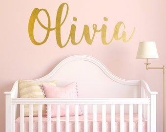 Delicieux Personalized Childrens Wall Decal   Girls Name Wall Decal   Nursery Wall  Decal   Personalized Name
