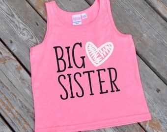 Big Sister Girls' Tank Top - Girls' American Apparel Big Sister Tank Top - Trending Big Sister Tank Top