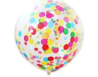 Confetti-Filled Balloons - 17 inch - Rainbow