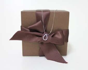 Romantic Waterdrop Silver Necklace (Rose gold, Silver)