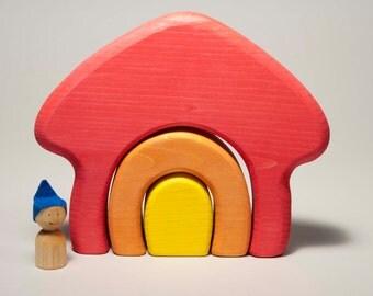 Stackable house, wooden house, wooden stackable house by l'Atelier Cheval de bois