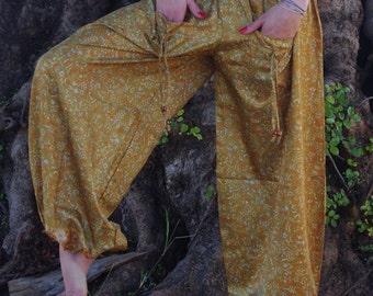 Pants Summer Pants Harem Pants  Meditation Pants Afghani Pants Buggy trousers Fisherman Trousers  Fairy Trousers Yoga Pants Tribal Trousers