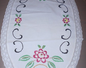 Vintage hanmade embroidered doily