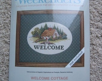 "Cross Stitch Kit - Welcome Cottage - Weekenders #03510 - 10"" x 8"" - NEW NIP"