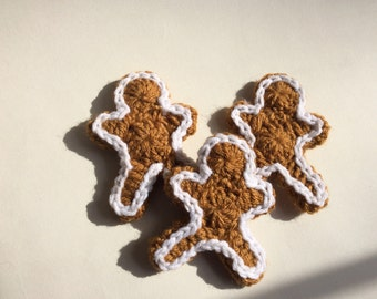 Crochet Gingerbread Man Trio