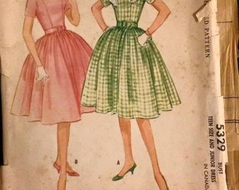 SALE 1960s Sewing Pattern McCall 5329 sz 16/bust 36
