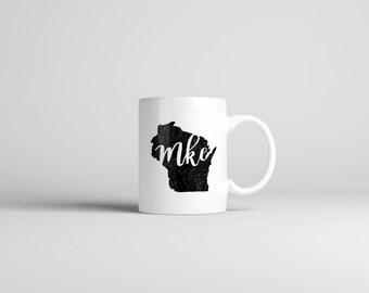Milwaukee Mug // MKE // Wisconsin Mug // Hometown Mug // Gift For Her // Gift For Him // The Busy Bee