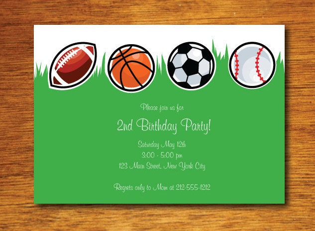 Sport invitation – Sports Themed Birthday Invitations