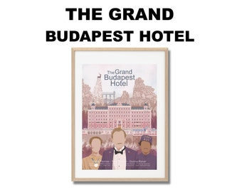 The Grand Budapest Hotel Movie Print - Poster Wes Anderson A3