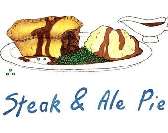 Steak illustration | Etsy