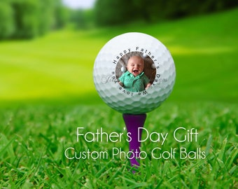 PHOTO golf ball - custom photo golf balls - Father's Day gift - personalized golf balls - your photo golf balls, set of 3 custom golf balls