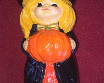 Vintage Halloween witch ceramic figurine by RB Japan