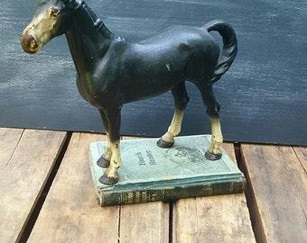 Hubley Cast Iron Horse Door Stop, Equine Statue