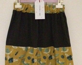 Organic cotton skirt for girls / Falda de niña de algodón orgánico y biológico