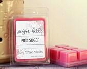 Scented Wax Tarts - Scented Wax Melts - Soy Wax Melts - Candle Melts - Natural Wax Melts - Candle Tarts - Scented Tart Melts - Pink Sugar