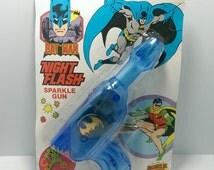 Vintage Henry Gordie Batman & Robin Night Flash Sparking Gun Rack Toy Pistol