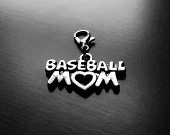 Baseball Mom Dangle Charm for Floating Lockets-Gift Ideas for Women