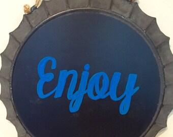Round Metal Chalkboard sign