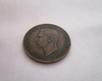 vintage 1946 One Penny King George