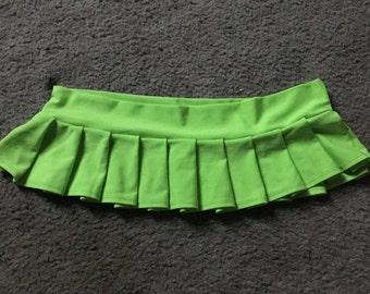Lime Green mini skirt
