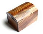 Wooden trinket box / jewellery box handmade from recycled Australian Blackwood wood by Joe Costatino