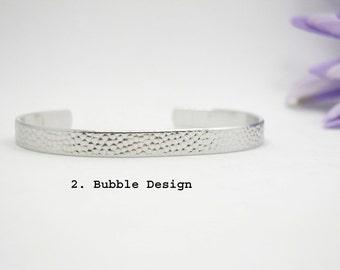Custom Bracelet Cuff - Personalized Bracelet - Custom Cuff - Handstamped Cuff - Secret Message - Aluminum Cuff - Custom Bracelet