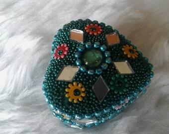 Heart Shape Mini Trinket Box