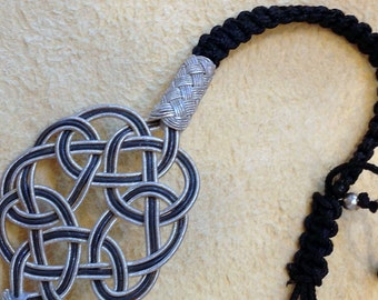 Brand new: barcelet endless love knot infinity eternity made of pure silver wire art