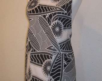 Black and White African Print Apron