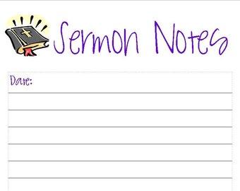 sermon notes template