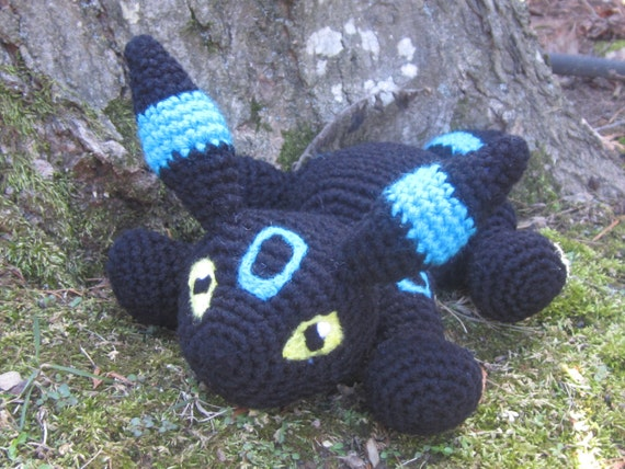 Pokemon Inspired: Shiny Umbreon Amigurumi (Crochet Plushie/Plush Toy ...