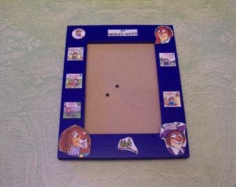 Decoupage decoupaged wooden frame Mercer Meyer Little Critter books characters