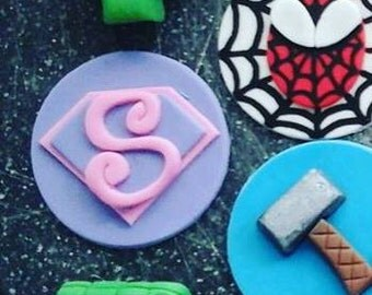 Supergirl Cupcake Toppers