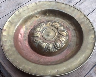 Decorative red coper dish