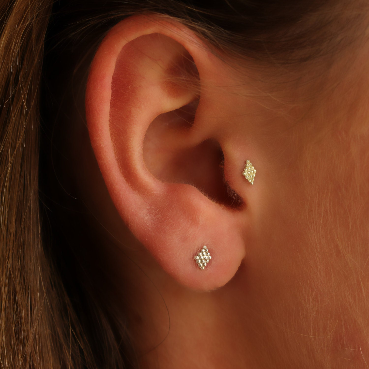 Tragus earrings gold beautify themselves with earrings