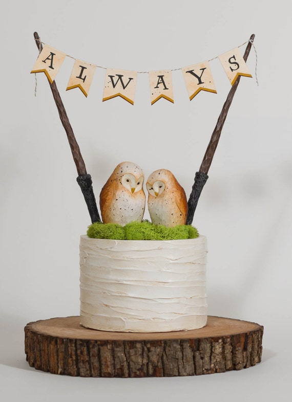 harry potter cake topper items similar to always owls harry potter inspired 4731