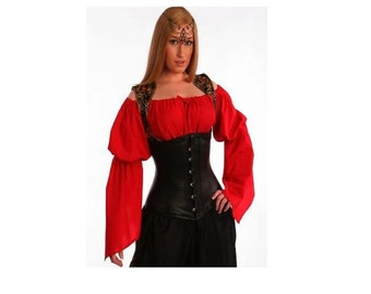 RENAISSANCE TOP MEDIEVAL Clothing Peasant Top Pirate Wench Costume Shirt Renaissance Dress Up Civil War Top Womens Renaissance Shirt Chemise