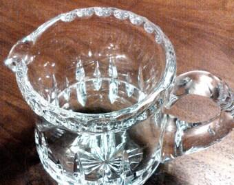 Antique Crystal Creamer kitchen tea time coffe tea Crystal Creamer