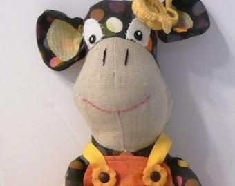 Fabric Monkey, Monkey Softie, Monkey Plush, Monkey with Dress, Toy Monkey, Cloth Monkey, Stuffed Monkey, Play Monkey, Monkey Room Decor