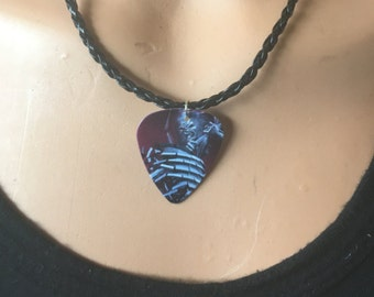Iron Maiden Guitar Pick/Guitar Pick Necklace/Heavy Metal Necklace/Heavy Metal Jewelry/Iron Maiden Necklace/Iron Maiden Jewelry