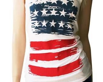 American Flag Tank Top. American Flag Shirt. American Flag Clothing. Patriotic. Patriotic Tank. Red White and Blue Shirt.